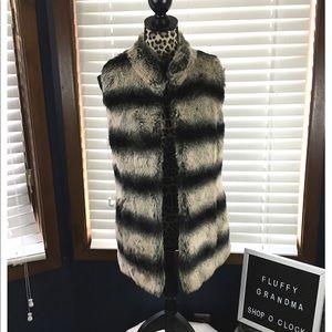 Rachel Zoe Faux Fur Vest XS
